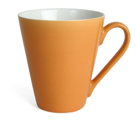 Mugg Attila, orange/vit